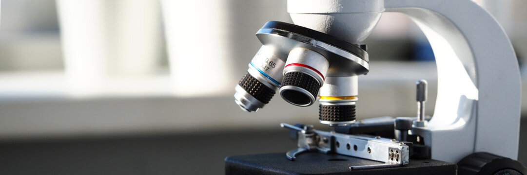 Scientific binocular view magnifier at university nano lab