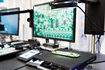 Digital microscopes with monitors quality control
