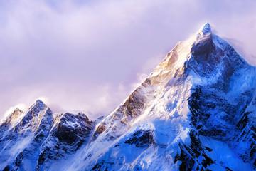 Mountain peak Everest. Highest mountain in the world. National Park, Nepal. Fototapete