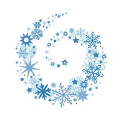 Weihnachtliches Dekor mit Sternenschweif blau