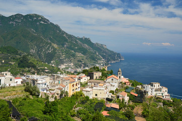 Landscape of the Amalfi coast, Italy.