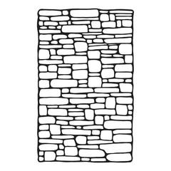 stone wall masonry decorative vector sketch. isolated object