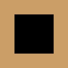 black square icon. flat design