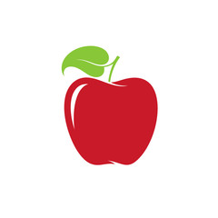 Apple. Red fruit on white background