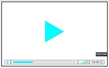 online video player window