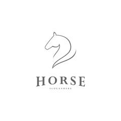 Pegasus Vector Logo Template. Horse logo template