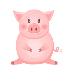 Little pink Pig character, The year of the pig.