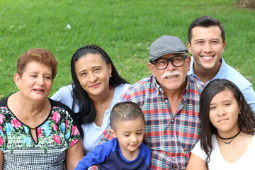 Grandparents with the whole family