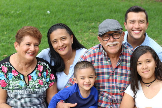 Hispanic family with good values