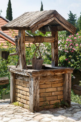Village well in the yard, Montenegro.