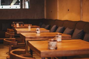 Cozy and minimal urban restaurant interior design