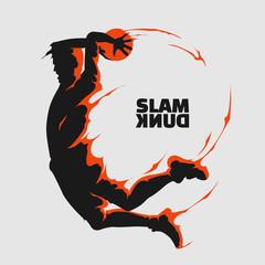 basketball slam dunk splash