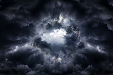 Hole in the Dramatic Clouds