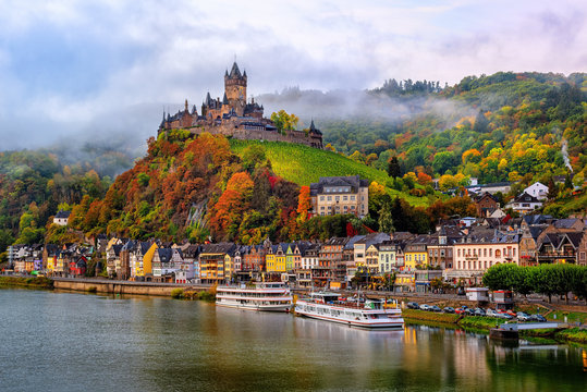 Cochem, a beautiful historical town on romantic Moselle river, Germany