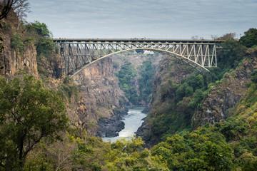 Victoria Falls Bridge and The Zambezi River, Zambia