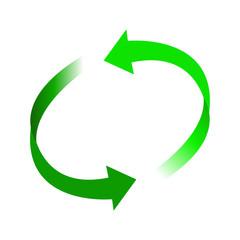 リサイクル矢印緑色イラストアイコン素材
