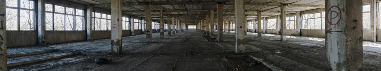 Abandoned factory panorama