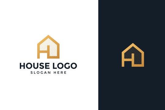 gold house logo real estate company
