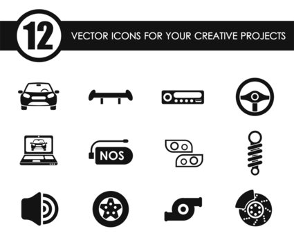 auto tuning vector icons for your creative ideas