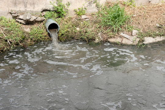 Storm Drain Outflow, stormwater, water drainage, waste water or effluent.