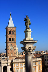 The Basilica di Santa Maria Maggiore, is a Papal major basilica and the largest Catholic Marian church in Rome, Italy