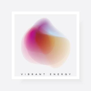 Colorful vibrant gradient blur shape