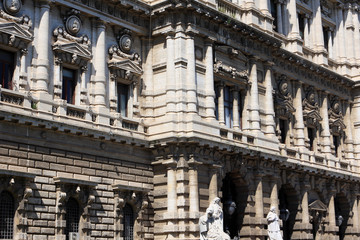 The Palace of Justice, the seat of the Supreme Court of Cassation and the Judicial Public Library, Rome, Italy