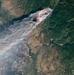 Wall Murals Nasa Satellite view of the wildfires in Paradise, California.Elements of this image furnished by NASA.