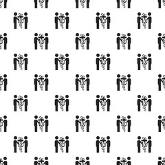 Bribery hand shake pattern seamless vector repeat for any web design