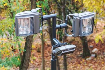 modern street lamp in the park
