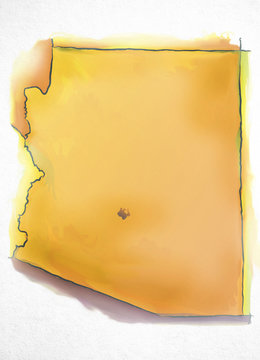 Arizona USA Watercolor Map