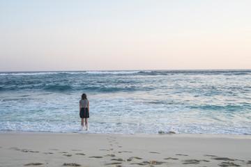 Girl on a beach on Nusa Lembongan, Bali