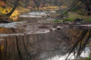 Flusslandschaft im Herbst