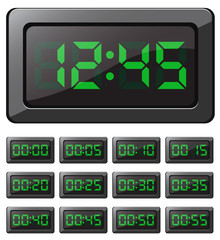 Digital clock and timers