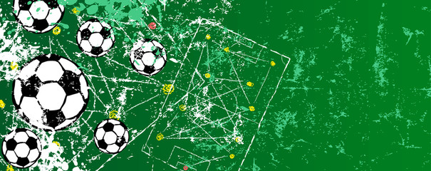 Super grunge soccer o. football design template, vector with free copy space