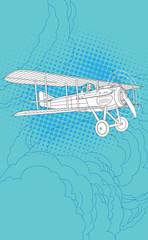 Retro pilot and plane