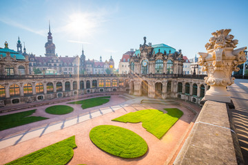 Nice image of the Der Zwinger museum complex built in Baroque style.