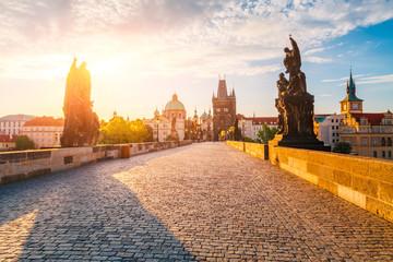 Photo sur Plexiglas Prague Charles bridge on the river Vltava, Prague, Czech Republic.
