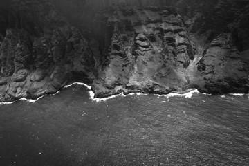 Black and White Aerial Shot Of Dramatic Coastline 2 Fotoväggar