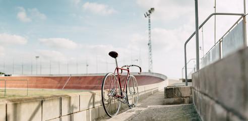 track bike panorama in velodrome