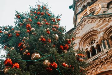 Christmas Tree near Kaiser Wilhelm Memorial Church Berlin