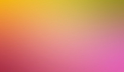 Abstract blurred gradient multicolor background in bright