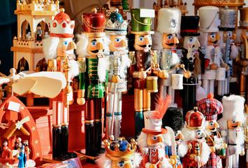 Nutcrackers Christmas Market at Alexanderplatz in Winter Berlin Germany