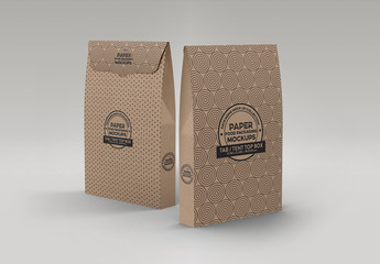 Two Paper Tent Top Boxes Mockup