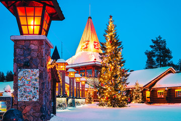 Christmas Santa Claus Office in Santa Claus Village, Rovaniemi, Lapland, Finland