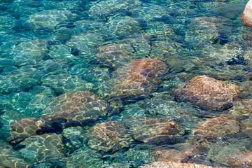 The turquoise sea