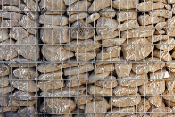 Mur en gabion pierres grillage