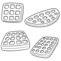 vector set of waffle
