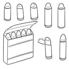vector set of crayons