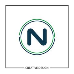 Initial Letter N Logo Template Vector Design